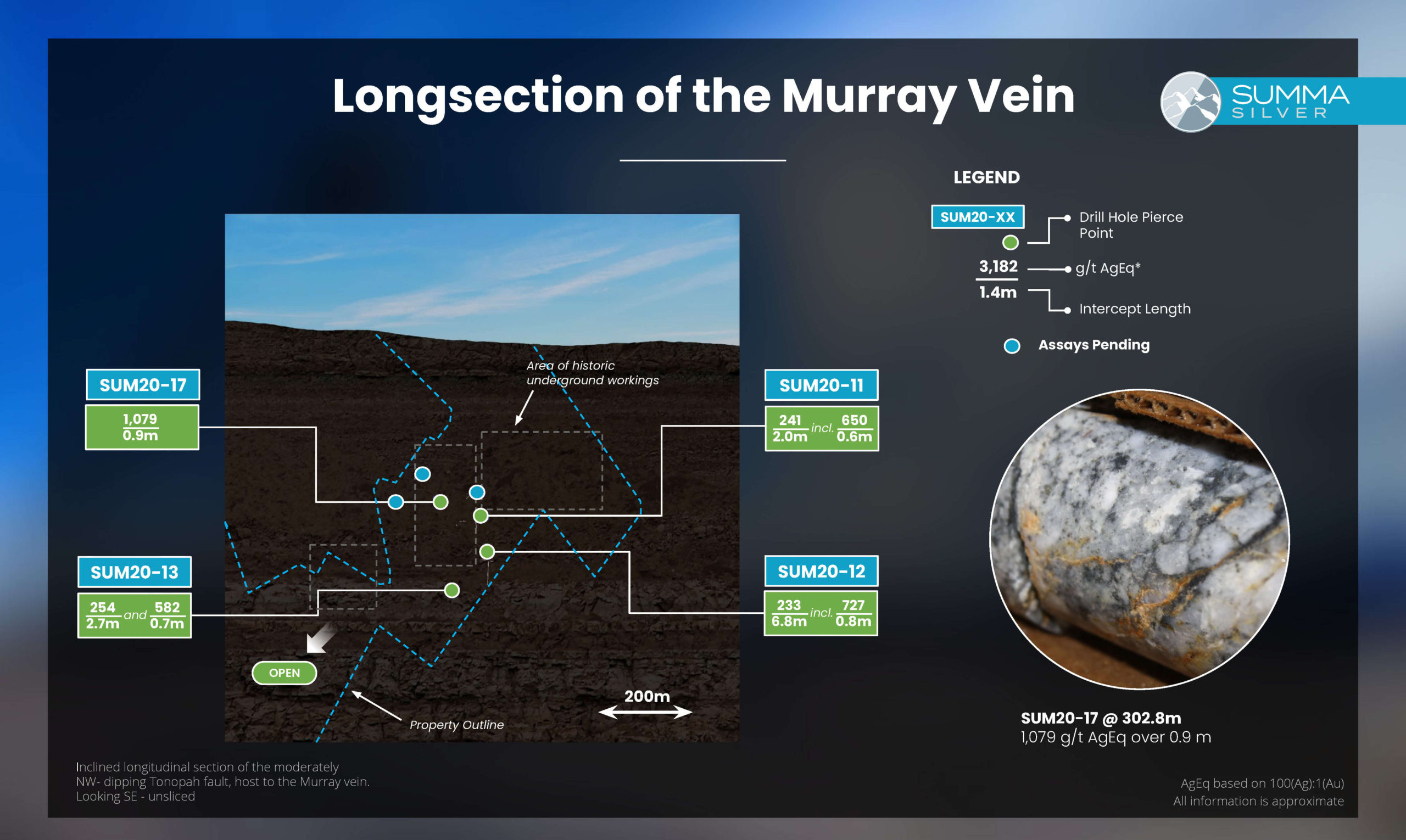 murray vein longsection